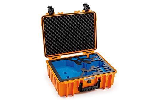 B&W Outdoor Case Étui Rigide Type 5000 avec incrustations : DJI Ronin SC Pro Combo et Accessoires (étui Rigide IP67, étanche, Dimensions intérieures 43 x 30 x 17 cm, Orange)