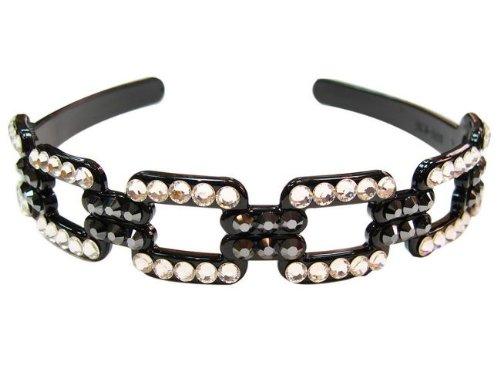 rougecaramel–Accesorios Cabello–Invernadero cabeza/Headband En Cristales De Swarovski–blanco