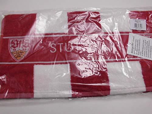 VfB Stuttgart Handtuch Blockstreifen 50x100 cm