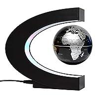 あれっ不思議!磁気浮遊地球儀 C型フレームの中で地球儀が浮遊し回転を続けます。フレームの内側はカラフルに発光し地球儀を際立てます。地球儀のセッティングも簡単です。日本語説明書あり。