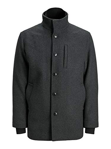 Jack & Jones JJDUAL Wool Jacket Chaqueta, Gris Oscuro, L para Hombre