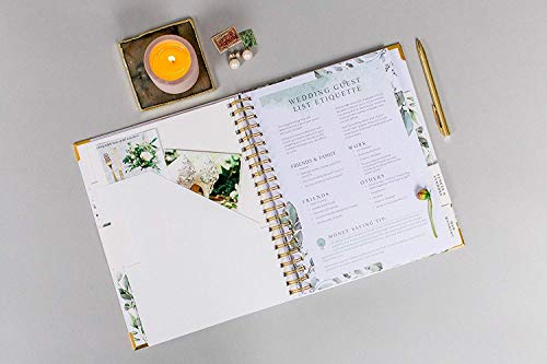 Product Image 5: Wedding Planner & Organizer – Floral Gold Edition – Diary Engagement Gift Book & Calendar