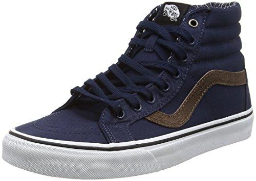 Vans Unisex Adults' SK8-Hi Reissue Hi-Top Sneakers, Blue (Cord & Plaid Dress Blues/True White), 6.5 UK