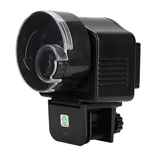 Oumefar Dispensador de Comida para Peces con Temporizador Digital, alimentador de Acuario, automático para Comida granular para pecera