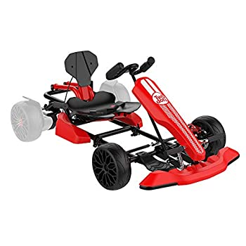 TWO DOTS Go Kart Attachment Cambo Outdoor Pedal Go Karting Car for Adults Hoverboard Go Kart Seat Attachment Compatible with All Hover Boards Like 4.5  6.5  8.5  Hoverboards  only Go-Kart  Red