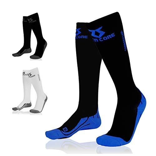 Zen Core Sport & Freizeit Kompressionsstrümpfe für Herren, Perfekt fürs Joggen, Wandern, Reisen, Thrombosestrümpfe, Hilft beim Schienbeinkantensyndrom, Stützstrümpfe, Durchblutung, Regeneration