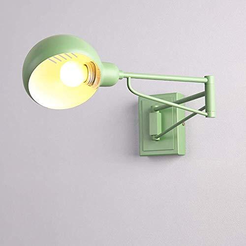 Lámparas de pared Brazo oscilante nórdico clásico Luz de pared Loft Estilo industrial Aplique de pared ajustable Ángulo múltiple Lámpara de pared de hierro forjado de metal vintage Sala de estar