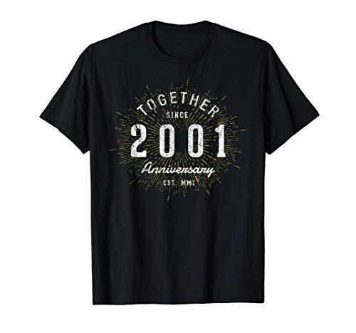 20 Años Juntos Desde 2001 20 Aniversario Camiseta