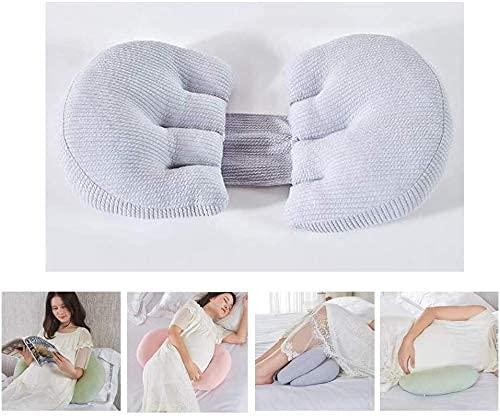 HYLX Almohada Soporte de Maternidad Almohada de Embarazo Almohada de Maternidad de Cuerpo Completo Soporte para Dormir Funda de Almohada de algodón 100% Almohada de Lactancia para bebés Que amama
