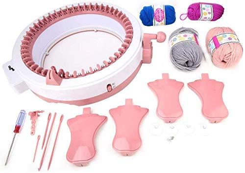 Hongzer Strickmaschine, 48 Nadeln Smart Webstuhl Rundstrickmaschinen, Strickbrett rotierenden Doppelstrickwebstuhl für Socke/Hut/Schal/Decken, Webstuhl für Erwachsene oder Kinder