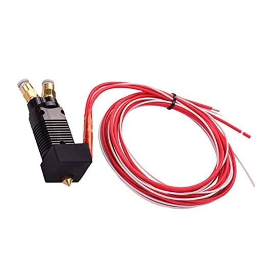 El color dual metal Hotend Extrusora Kit 2 en 1 de cada cable con boquilla de 0,4 mm de latón 1,75 filamento Multi 24V 3D de piezas de uso de la impresora