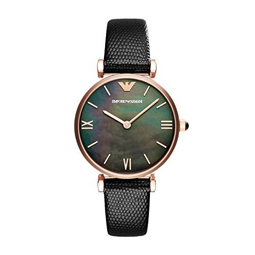 Emporio Armani Reloj Analógico para Mujer de Cuarzo con Correa en Cuero AR11060