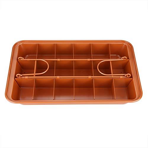 Weikeya - Molde para tartas ajustable (31 cm, fuerte con alto contenido de carbono), para hornear brownies, pans, etc.