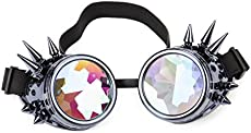 FIRSTLIKE Festivals Kaleidoscope Rainbow Glasses Prism Sunglasses Goggles