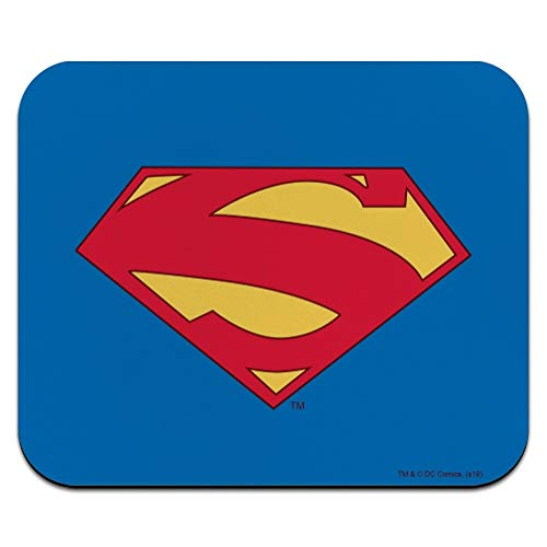 Superman New 52 Shield Logo Low Profile Thin Mouse Pad Mousepad