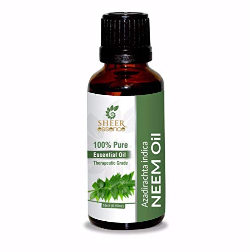 Neem (Azadirachta Indica) Essential Oil Natural & Pure, Cold Press, Unrefined Fresh 0.16 fl. Oz