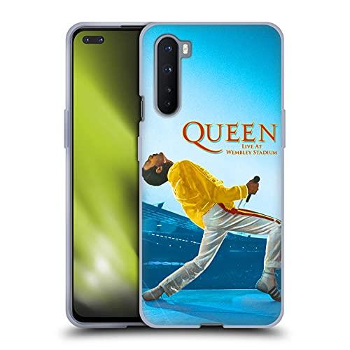 Head Case Designs Licenza Ufficiale Queen Freddie Mercury Live At Wembley Arte Chiave Cover in Morbido Gel Compatibile con OnePlus Nord 5G