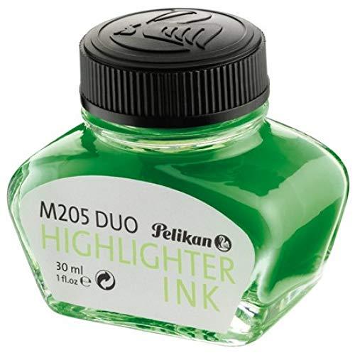 Pelikan 339580 - Tinta para pluma estilográfica 4001, frasco de vidrio de 30 ml, color verde fluorescente