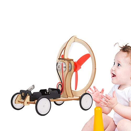 Windenergie Auto Elektrisch, Kinderen Elektrisch Windenergie Auto DIY Puzzel Auto Educatief Wetenschap Experiment Toy Kinderen DIY Educatief STEM Toy