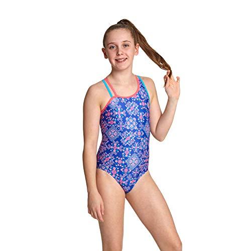 Preisvergleich Produktbild Zoggs Mädchen Badeanzug Enchanted Crossback L Blau / Mehrfarbig