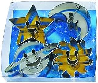 R&M International 1803 Astro Space Cookie Cutters, Saturn, Moon, Star, Sun, 4-Piece Set