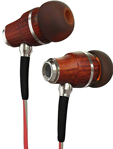 Symphonized NRG 3.0 Earbuds in-Ear Headphones, Wood Noise-isolating Earphones with Microphone &...