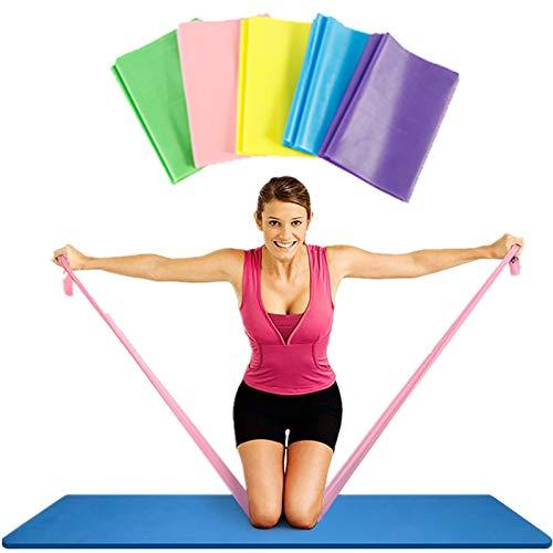 ODOMY Fitnessband Gymnastikband Widerstandsband Latexband 1 Stück Maximal 5m Lang für Krafttraining 20 lbs aus Naturlatex (grün)