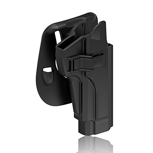 Best holster for beretta 92fs - OWB Holster for Beretta 92 92FS 92S 92G M9 M9_22, Tactical Outside Waistband Open Carry Paddle Belt Holster Also for Taurus PT92 with Release Button 60° Adjustable Cant, Right-Handed