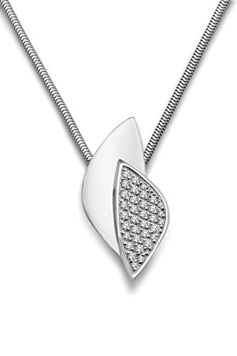 Miore dameshalsketting 925 sterling zilver gerhodineerd 45 cm MSM228N