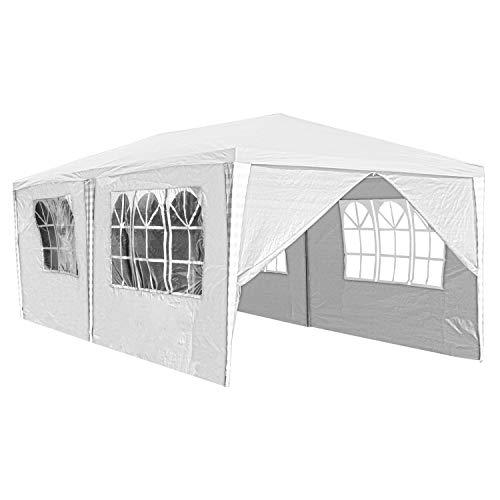 TolleTour 3x6m Pavillon Stabiles Partyzelt Festzelt,Wasserdicht Gartenpavillon mit 6 Seitenteilen UV-Schutz für Markt Camping Hochzeiten Festival