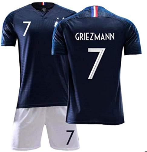 BBJOZ Men s Footballs Jersey -Set Training Wear Antoine Griezmann # 7 All The Sizes Children and Adult (Color : C Size : Children-110)-Children-110_C