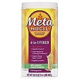 Metamucil, Natural Psyllium Husk Powder Fiber Supplement, Plant Based, 4-in-1 Fiber for Digestive Health, No Sweeteners, 114 teaspoons (23.3 OZ Fiber Powder)