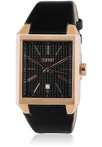 Esprit – ES104071003 – Monterey – Herren-Armbanduhr – Quarz Analog – schwarzes Zifferblatt – Armband Leder