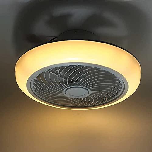 Ventiladores de Techo LED 36W con Luces y Control Remoto + APP, Velocidad de Viento 3 Niveles, Ventiladores de Techo Modernos Regulables con Lámparas Silenciosos para Habitación, Comedor, Dormitorio
