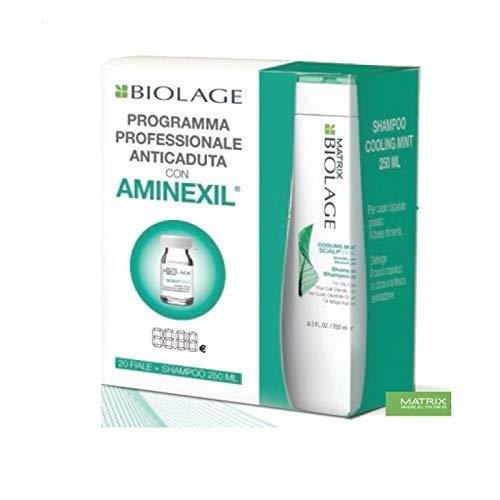 MATRIX Biolage Scalpsync Trattamento Anticaduta 20X6ml + Cooling Mint Shampoo 250ml