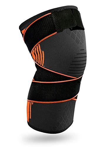 Compression Knee Sleeve Brace with Side Straps - Knee Brace Pads Support for Men & Women – 1 Pcs...