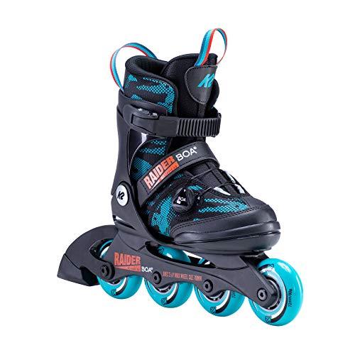 K2 Inline Skates RAIDER BOA Für Jungen Mit K2 Softboot, Black - Turquoise, 30E0201