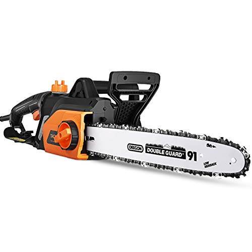 TACKLIFE 1800W Chainsaw, 35cm Bar, Electric Chainsaw with Tool-Free Chain...