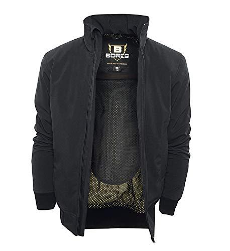 Bores Safety 1 Softshell-Jacke, Wasserabweisend, Reißfest, Schwarz, Größe M