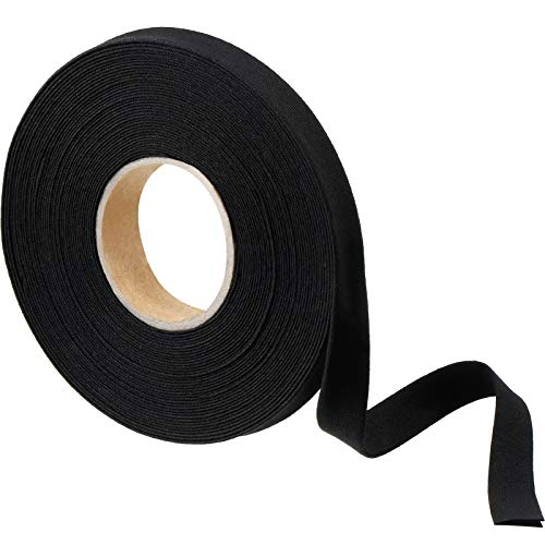1/2 Inch Double Fold Bias Tape Bias Binding Tape Wide Fold Cotton Tape for Sewing Seaming Hemming Piping Quilting Projects (Black,10 Yards)