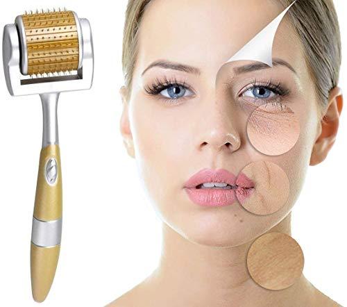 ZGTS - Rodillo de derma de titanio con micro agujas, herramienta de cuidado de la piel para antienvejecimiento, eliminación de acné, celulitis, arrugas, estrías