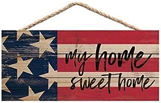 Brooer2ick My Home Sweet Home - Cartel de Madera Hecho a Mano con Cita en inglés My Home Sweet Home, Regalo de inauguración de la casa para Hombres y Mujeres