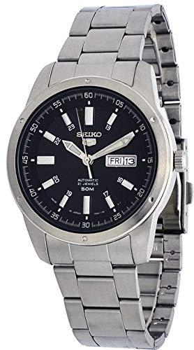 Seiko 5 SNKN13J1 - Reloj automático para Hombre (Acero Inoxidable japonés, Esfera Negra, Fecha de día)