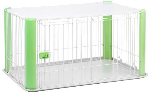 IRIS Large Wire Dog Crate with Mesh Roof, Green AmazonPets Basic Brands Crates Dog from love Selection Supplies Top we
