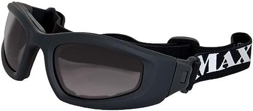 MAXX Sunglasses Chaos Sport Motorcycle ATV Goggles Black Frame with Smoke Lenses