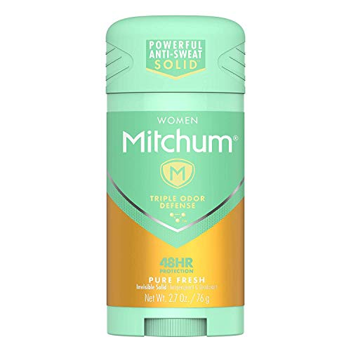Mitchum For Women Advanced Control Anti-Perspirant Deodorant Invisible Solid Pure Fresh 2.70 oz (Pack of 6)