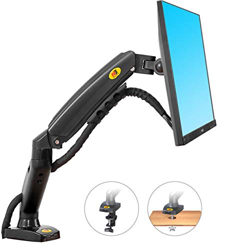 NB North Bayou Monitor Desk Mount Stand Full Motion Swivel Monitor Arm with Gas Spring for 17-30''Monitors(Within 4.4lbs to 19.8lbs) Computer Monitor Stand F80