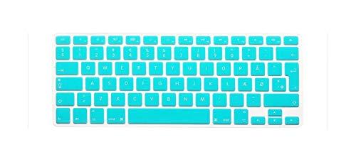 Voor MacBook Air 13 13 13 3 inch Pro 13 15 Retina Euro EU toetsenbord siliconen toetsenbord cover beschermfilm blauw/
