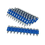 12 Gauge 7/8 Inch X .109 Inch Mechanical Galvanized Smooth Shank Plastic Collated Concrete and Steel Drive Pins for Gas Powered Framing Nailers 1000 PCS/Box