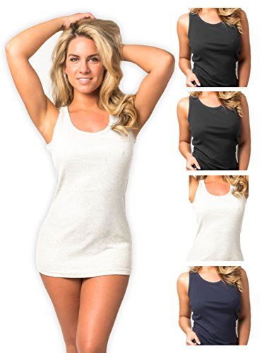 Emprella Tank Tops for Women Racerback Tanks Pack of 4 Assorted Colors (Small, Assorted 1)